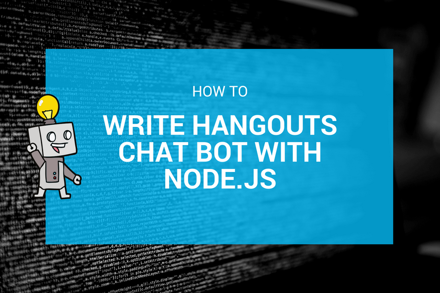 How to write Hangouts Chat Bot with Node js • matwrites com